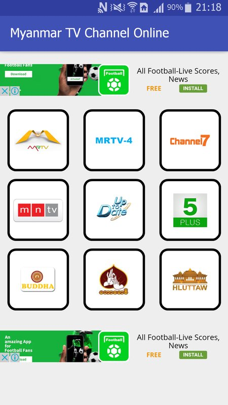 Myanmar TV Channels Application new Version - English For