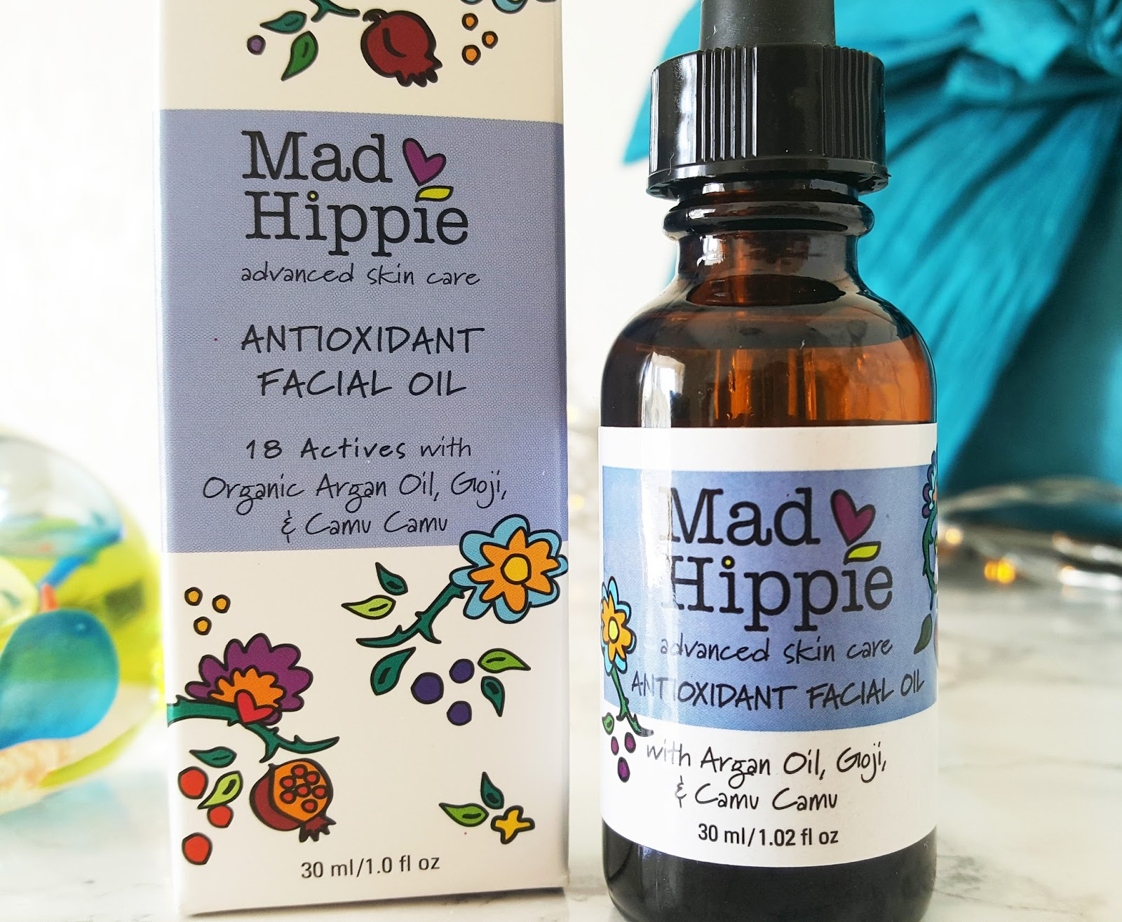 Every woman needs a good antioxidant oil. Image shows Mad Hippie's