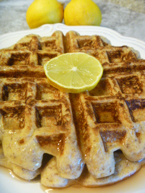 Lemon Sour Cream Waffles - Throw a Mother's Day Brunch.  These are the easiest and most luscious waffles!  Slice of Southern