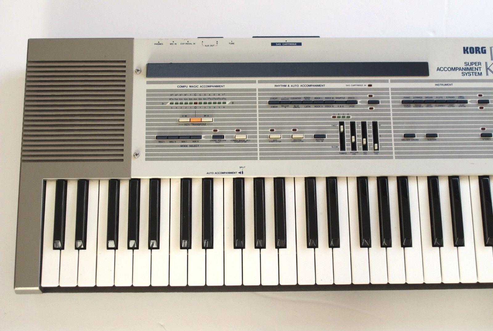 MATRIXSYNTH: Rare Korg Japan SAS-20 Keyboard Synth Vintage 1983