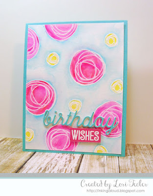 Watercolored Birthday Wishes card-designed by Lori Tecler/Inking Aloud-stamps and dies from My Favorite Things