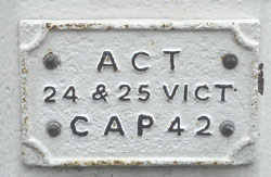 Picture of coal post detail showing ACT 24 & 25 ViCT CAP 42