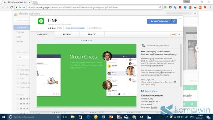 cara install line