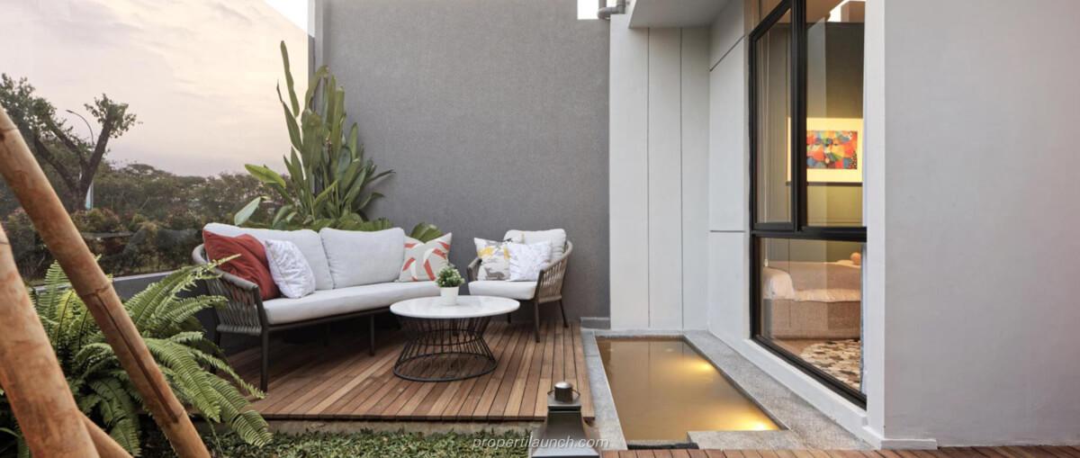 Interior Design Rumah Rolling Hills Karawang Tipe 2 Backyard