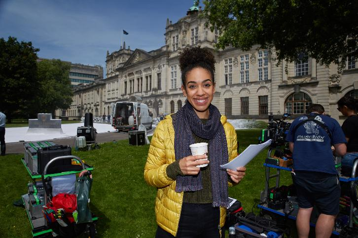Doctor Who - Season 10 - Pearl Mackie's First Day Filming on Location