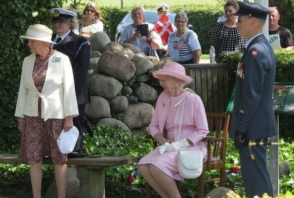 Queen Margrethe visited Hvidsten town to attend the memorial service of the resistance group Hvidsten Group