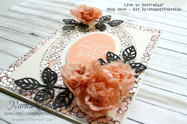 Create stunning cards like this with all the supplies found here - http://bit.ly/shopwithnarelle