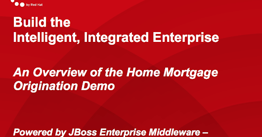 IIE Home Loan Demo - Ready to Rumble with JBoss Integration?