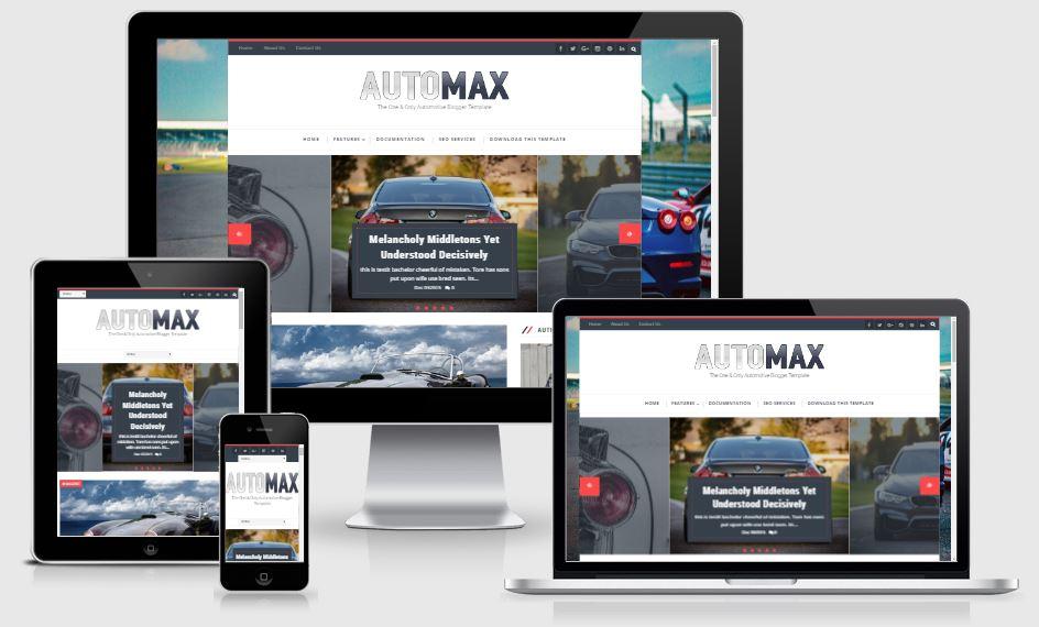 Automax template blogspot giới thiệu ô tô đẹp 2017