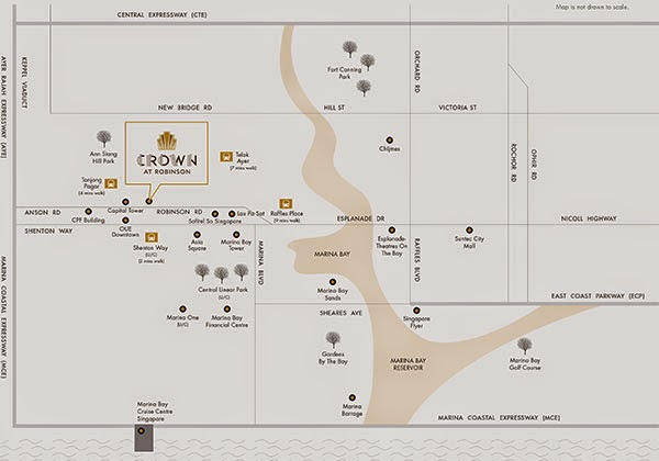 Crown @ Robinson Location Map