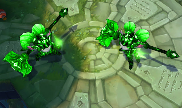 Mod Skin Poppy Battle Star Green