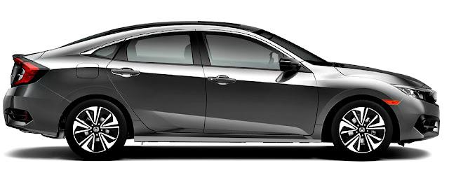 Honda Civic EXL-T lado derecho gris