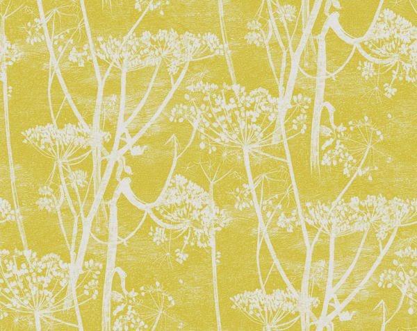 papel  de parede amarelo e cinza francês quarto