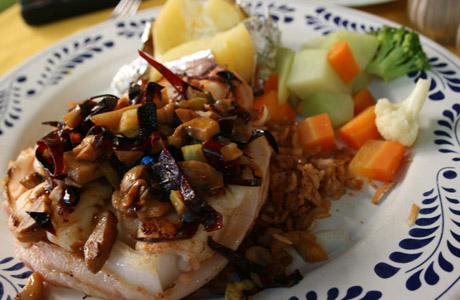 camarones, Restaurante Las Mision, Cozumel