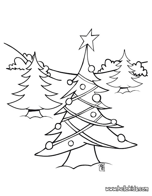Decorated Christmas Tree Christmas Tree Light Coloring Page  Coloring Page   Holiday Coloring Pages  Christmas Coloring Pages
