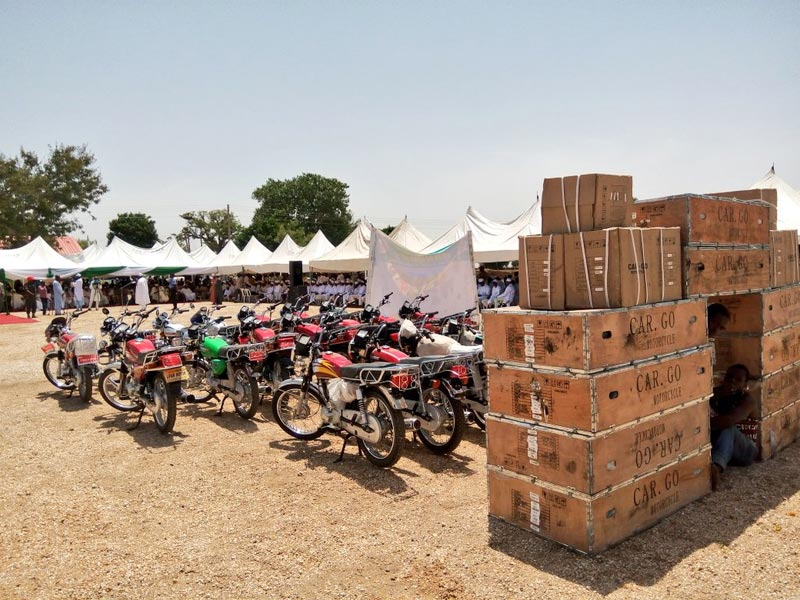 Kano State government distributes 381 bikes to farmers