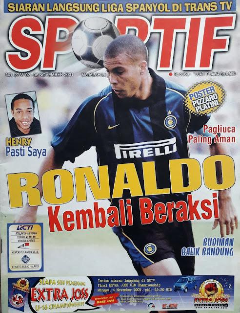 SOCCER MAGAZINE COVER RONALDO OF INTER MILAN