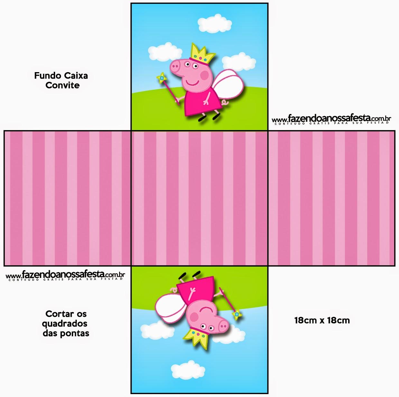 peppa pig cake template free - peppa pig fairy free printable boxes oh my fiesta in