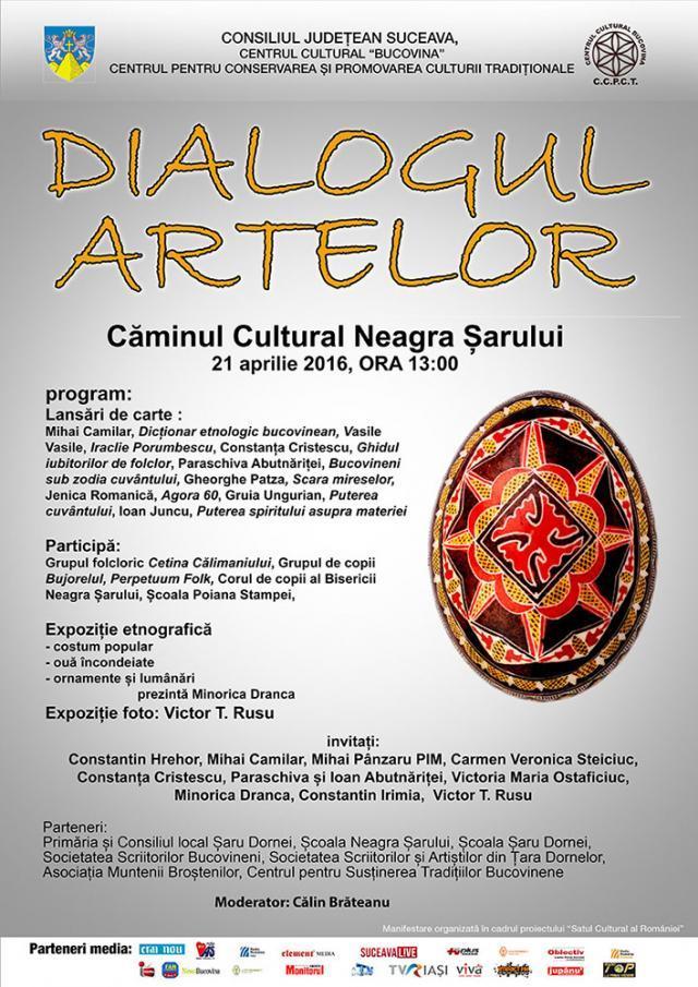 """Manifestarea """"Dialogul Artelor"""", a avut loc la Căminul Cultural Neagra Şarului"""