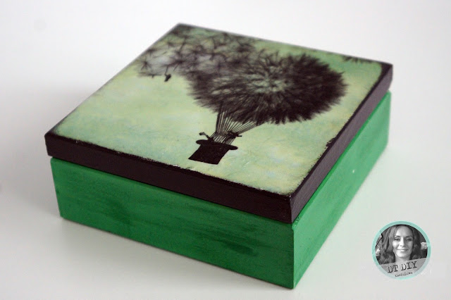 zielone pudełko decoupage i nowe wyzwanie DIY