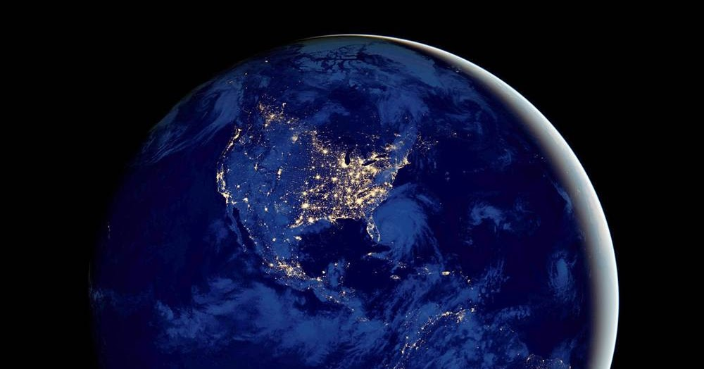 NASA Earth at Night From Space high resolution widescreen