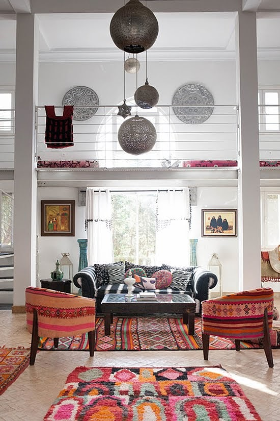 Safari Fusion blog | Modern bohemian | North African chic with modern bohemian rugs at Peacock Pavilions, Marrakech / Morocco