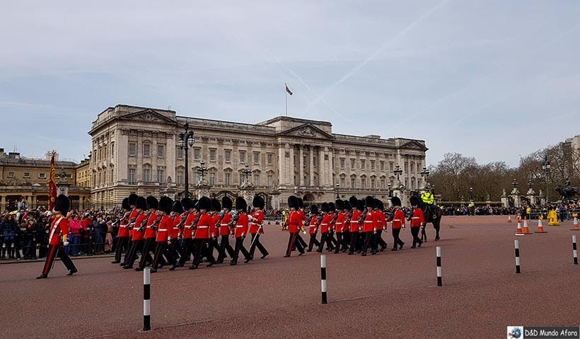 Diário de Bordo - 5 dias em Londres - Troca da Guarda Real
