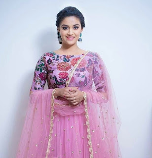 Keerthy Suresh in Pink Dress
