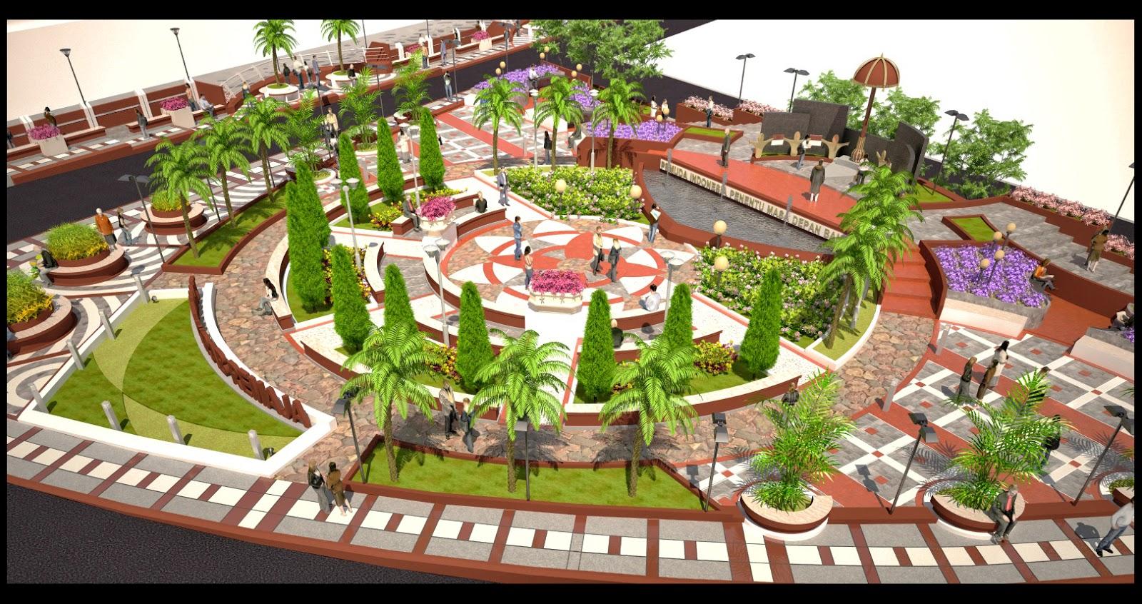 Desain Taman Kota ~ Sketsa Rumah