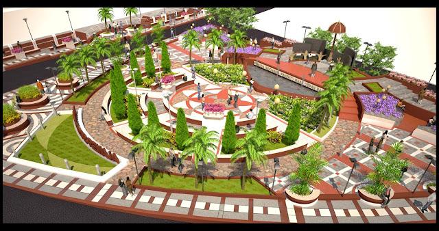 Ini Desain Taman Kirab yang Sementara Dibangu di Sudut Masjid Agung Palopo