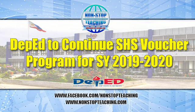 DepEd to continue SHS voucher program for SY 2019-2020
