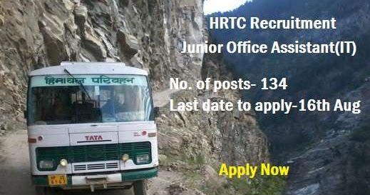 Himstates| Himachal Pradesh |News,jobs,hotels,Temples, Tourist Places in Himachal|HS:  HRTC Recruitment- 2016 for 134 Junior Office Assistant Apply online Last Date 16 Aug