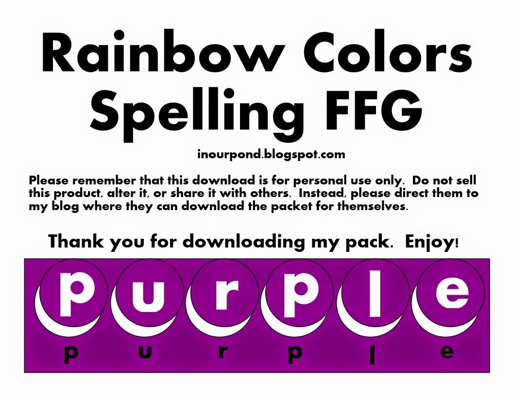 Rainbow Colors Spelling
