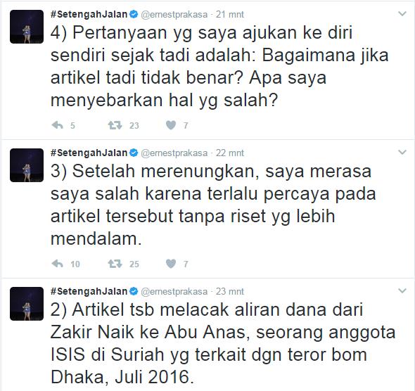 Komika Ernest Minta Maaf, Setelah Menghina dr. Zakir Naik