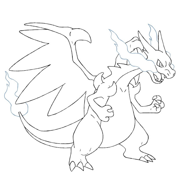 Mega Charizard Coloring Pages