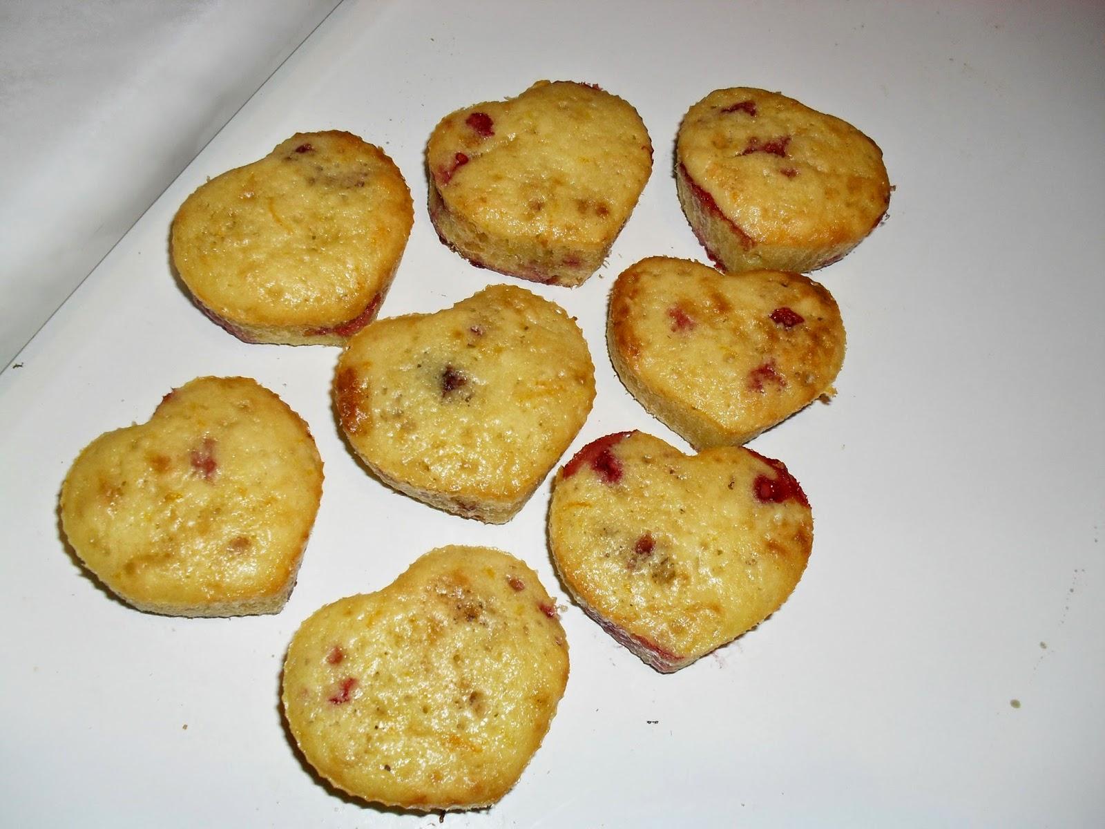 muffinki z truskawkami i pomarańczą
