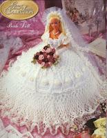 Barbie com Vestido de Noiva de Crochê Annie Potter 1997