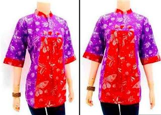model baju blouse batik atasan cantik modern