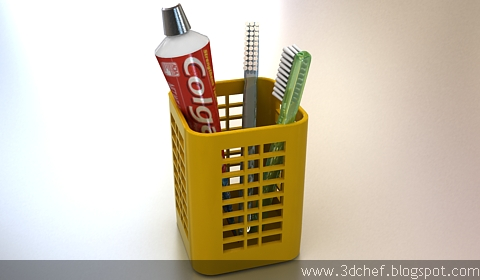 toothbrush 3d model free