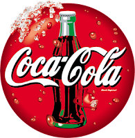 Logo of Coca-Cola Bottle on the cap of the bottle