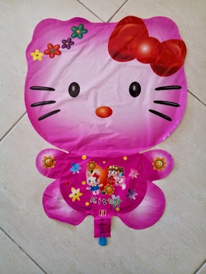 Balon Foil Character Hello Kitty Pink