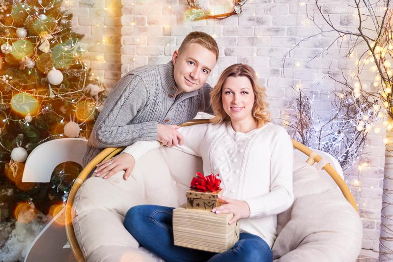 Новогодняя фотосессия беременности Кати. Фотограф беременных Ольга Горчичко