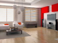 Fresh Living Room Interior Wallpaper