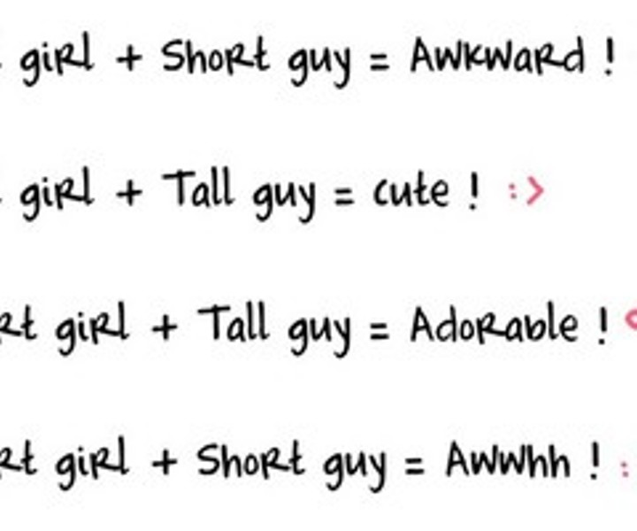 Dating a tall girl when you are a short guy