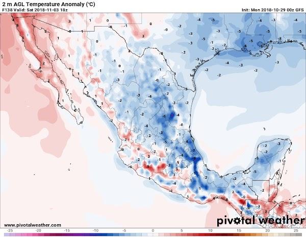 ALERTAS: Nuevo frente frio afectara con lluvias torrenciales a Mexico