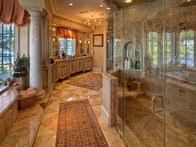 Architecture Corner Luxury Mediterranean Home Florida