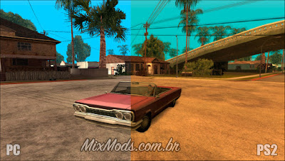 mod gráficos do ps2 para o gta sa pc