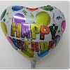 Balon FoiL Hati Motif HAPPY BIRTHDAY / Balon Foil Hati HBD