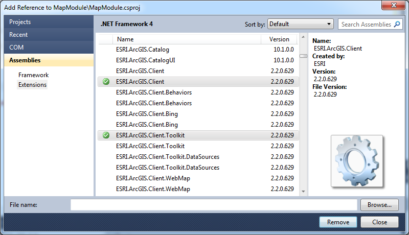 MathiasWestin: How to set up ArcGIS for WPF with Prism