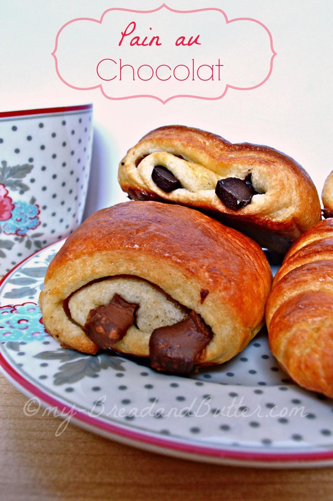 bread and butter ricette facili e gustose pain au chocolat e croissants francesi. Black Bedroom Furniture Sets. Home Design Ideas
